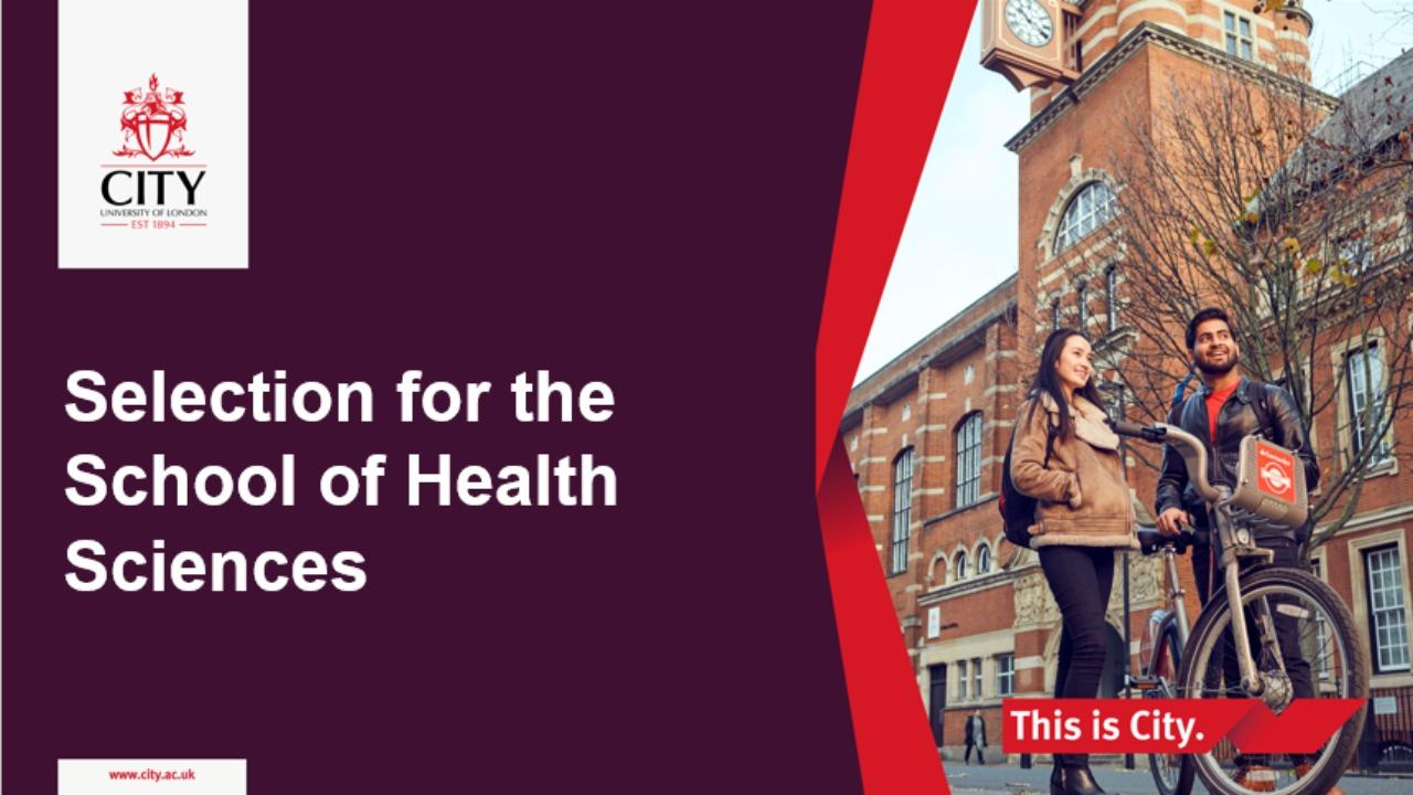 Top tips for selection days for City's Health Sciences courses