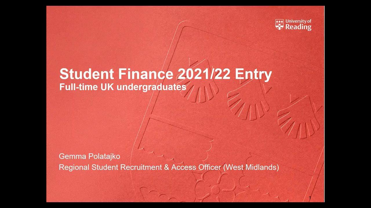 Student Finance 2021/22 Entry