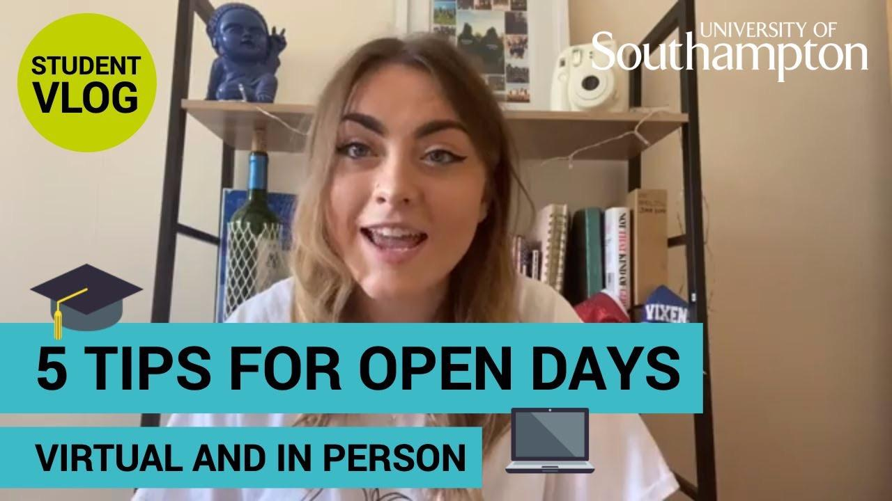 5 tips for Open Days