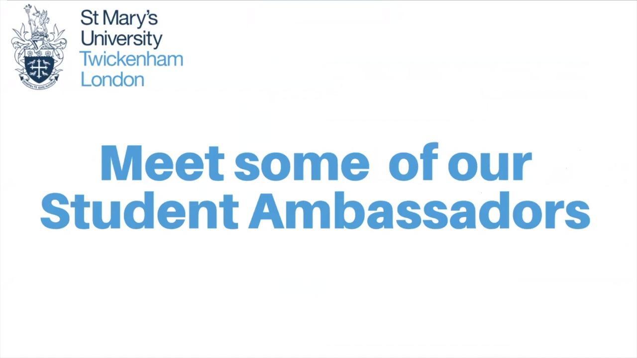 Meet our Student Ambassadors