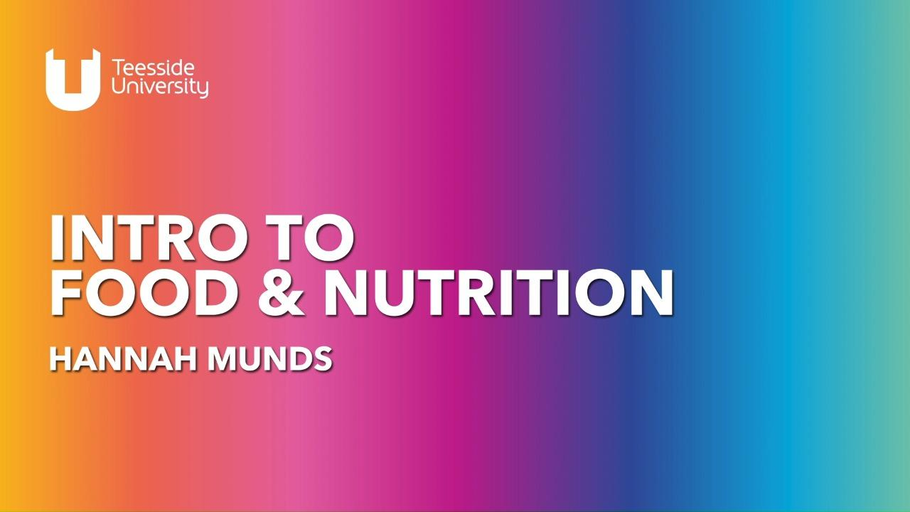 Studying Food Science & Nutrition at Teesside University
