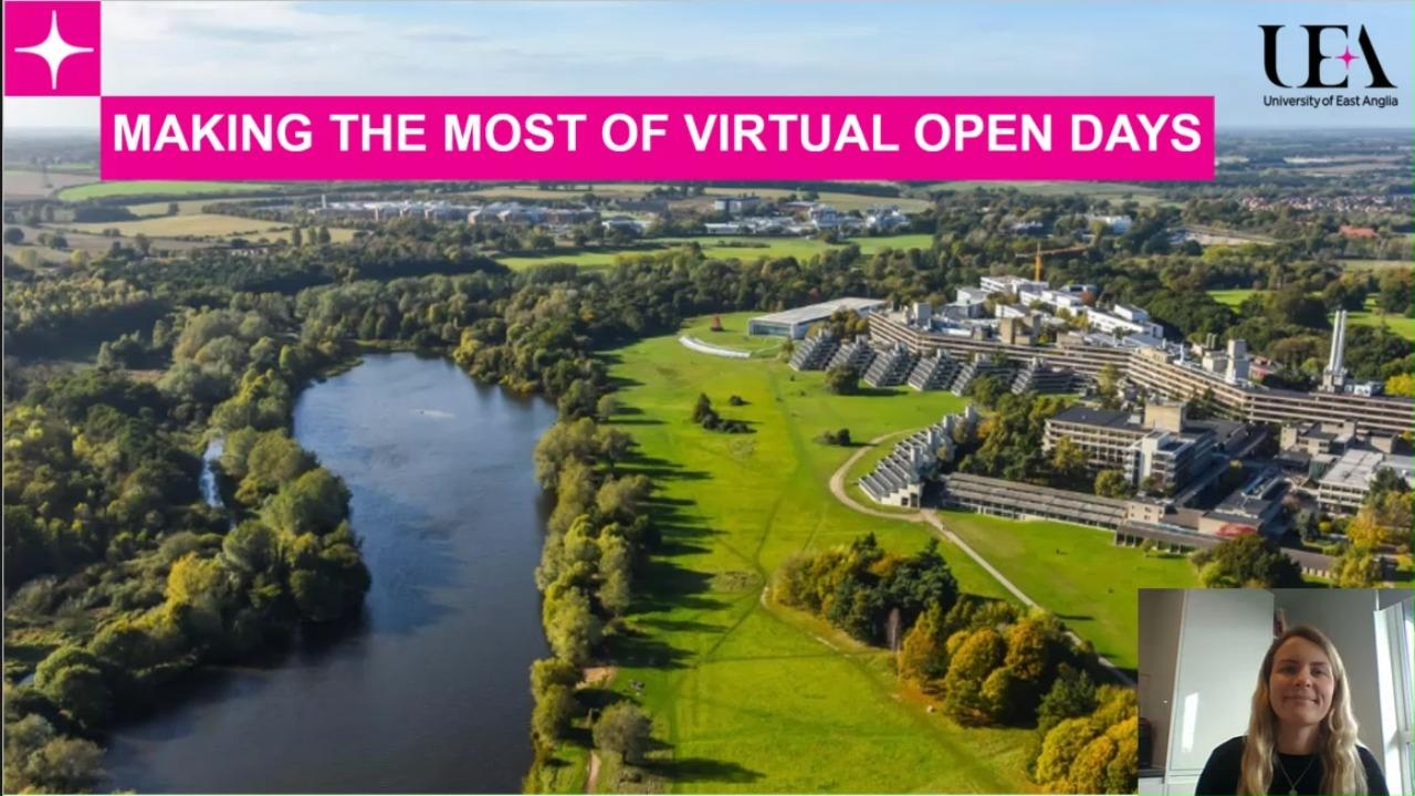 Making the most of virtual Open Days