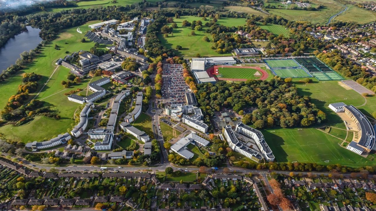 Aerial tour of the UEA campus