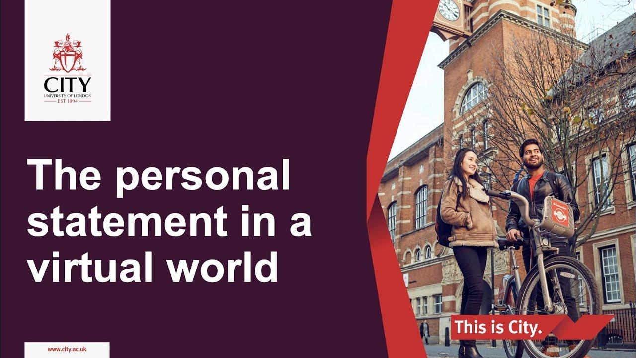 Writing the personal statement in a virtual world
