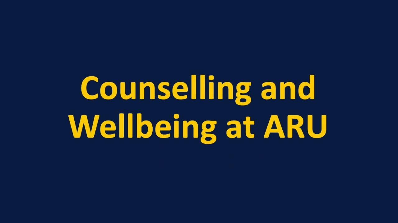 Find out about the counselling and wellbeing team at ARU