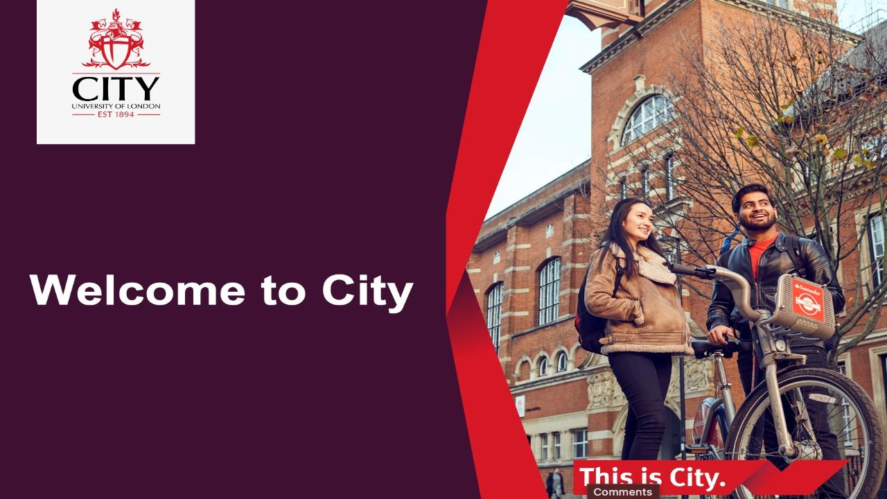 Welcome to City, University of London